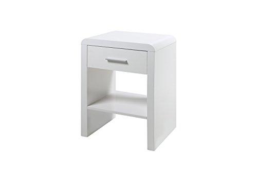 AC Design Furniture 62247 Nachttisch, Holz, weiß, 35 x 45 x 59 cm