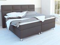 SAM Design Boxspringbett in Grau, Stoffbezug, Box mit ...