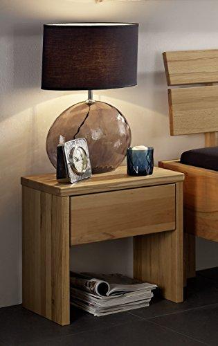 SAM Massive Nachtkommode Oliver aus geölter Kernbuche, Konsole mit Schublade, Nachttisch mit natürlicher Maserung