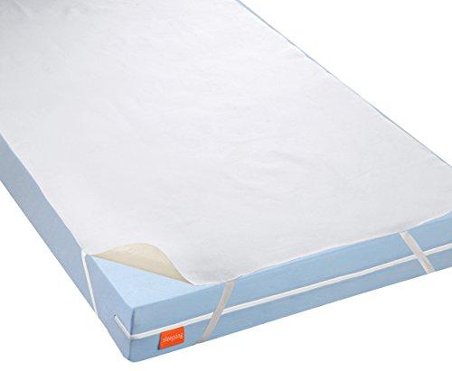 sleepling 191168 wasserundurchlässige Molton Matratzenauflage Inkontinenzauflage mit atmungsaktiver Beschichtung, 60 x 120 cm bis 70 x 140 cm, weiß