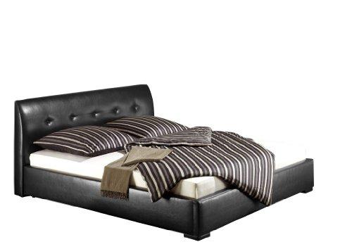 Maintal Betten 235785-4113 Polsterbett Zari 160 x 200 cm, Kunstleder schwarz