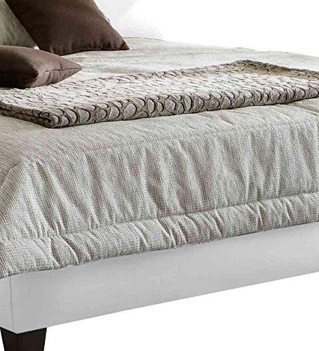 Maintal Betten 231725-4691 Polsterbett June 140 x 200 cm, Kunstleder weiß