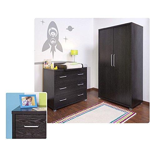 Kleiderschrank Jony mit 2 Türen in Schwarz