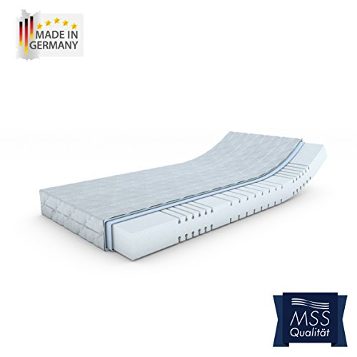 MSS® Mellow-Foam-7-Zonen Kaltschaummatratze H2 / 90 cm x 190 cm / H2 bis 80 kg = weich