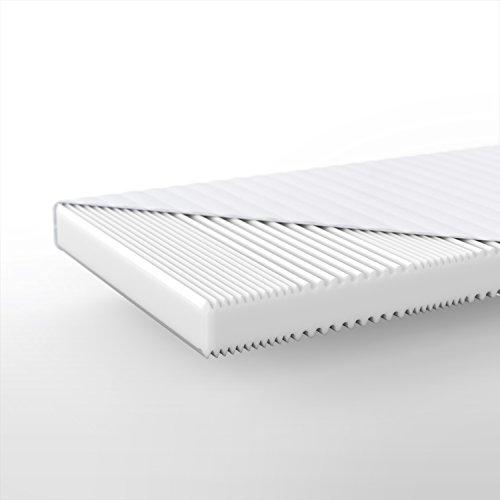 Hilding Sweden Essentials Schaumstoffmatratze in Weiß/Mittelfeste Matratze mit orthopädischem 7-Zonen-Schnitt für alle Schlaftypen (H2-H3)/200 x 90 x 16 cm