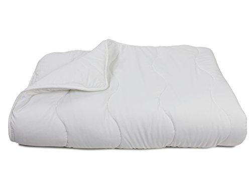 Duo-Steppdecke für erholsamen und gesunden Schlaf - erhältlich in 2 verschiedenen Größen - geprüft nach Öko-Tex Standard 100, 135 x 200 cm [Wellensteppung]