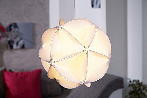 Invicta Interior Belajio Futuristische Design Hängeleuchte weiss 40cm