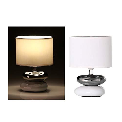 dcasa Orientalische Nachttischlampe, Keramik, für Schlafzimmer, Fantasie - Weiß