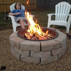 Adirondack Chairs At Lowes Chair Stand Test Hd Images Make Your Own Diy Backyard Fire Pit: Cheap Weekend Project