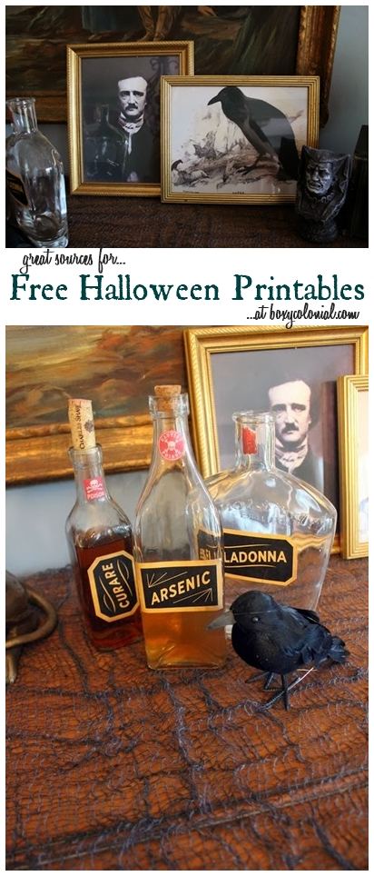 Great sources for free printable for Halloween
