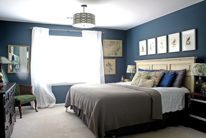 master bedroom with new blanket