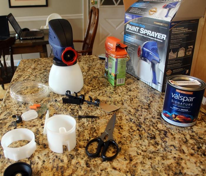 paint sprayer in pieces
