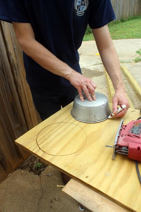 tracing circles for stove burners