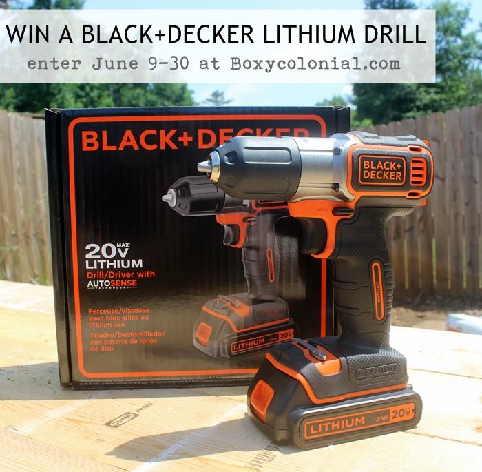 BLACK+DECKER drill giveaway