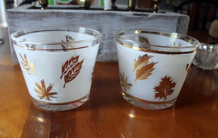 libbey gold leaf ice buckets