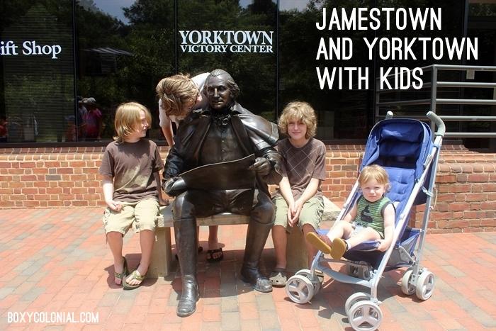 Jamestown and Yorktown with kids