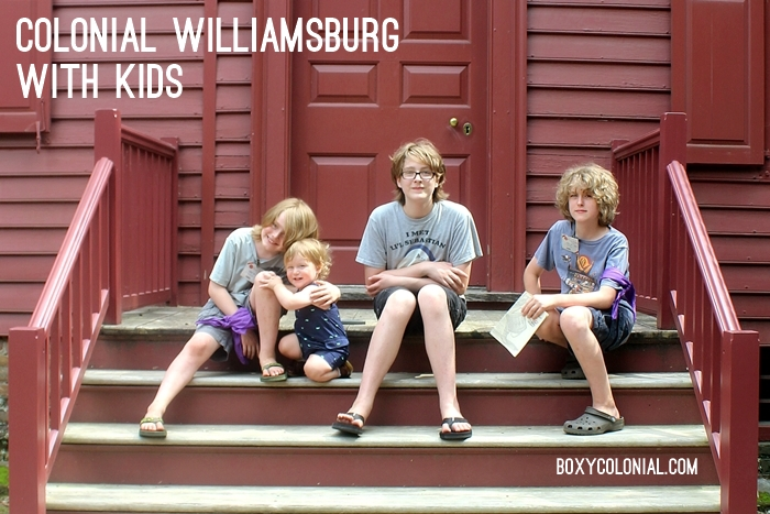 Colonial Williamsburg with Kids trip report