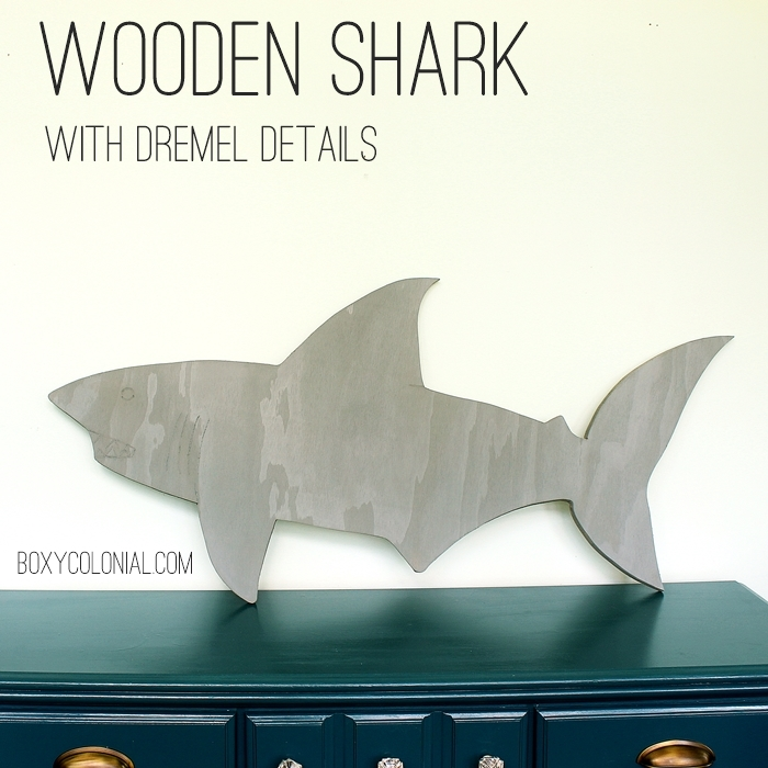 How to make a big wooden shark and add details like teeth and gills with a Dremel