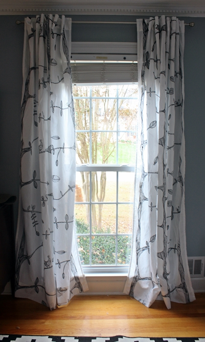 Hemming Curtains Without Sewing And Other Small Things