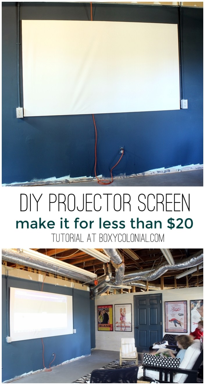 make this DIY projector screen for less than $20