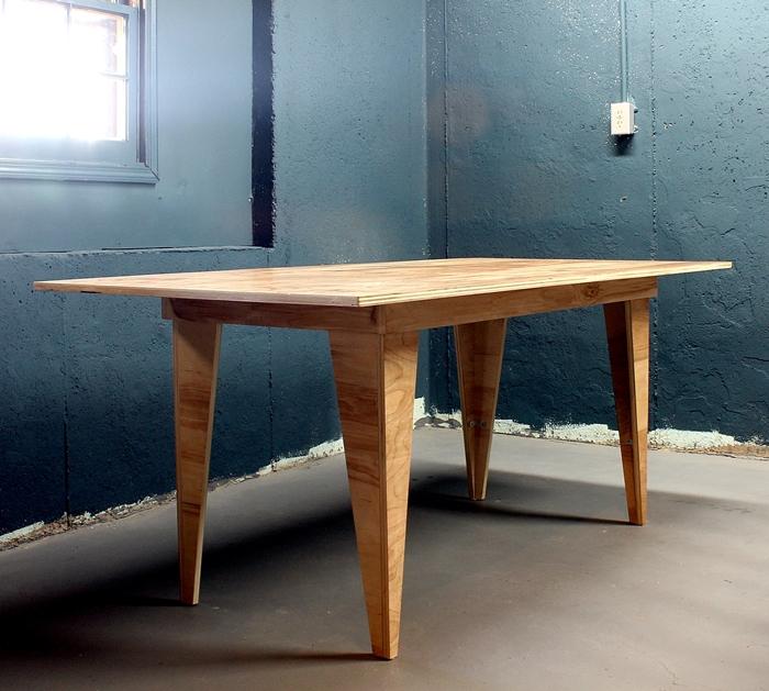 diy birch plywood table
