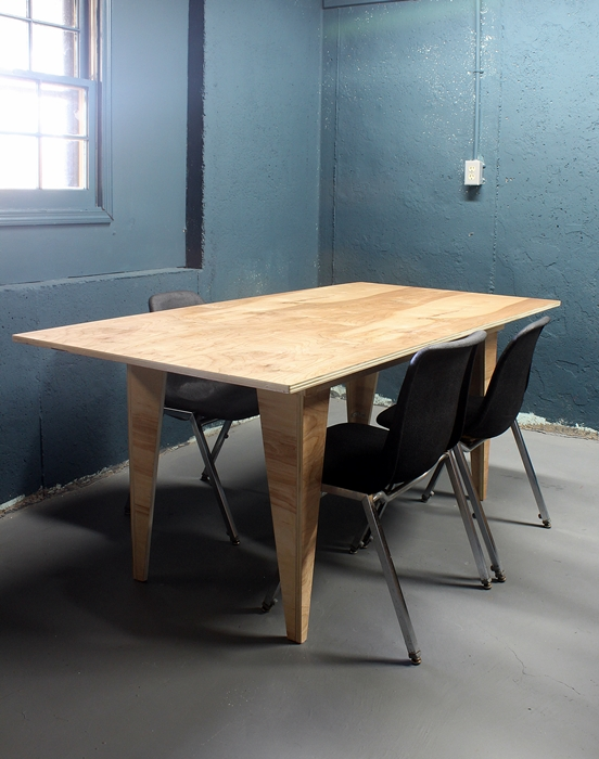 diy birch plywood table birch table with chairs ... & DIY Modern Birch Table from One Sheet of Plywood -