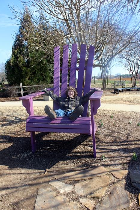huntsville botanical garden giant chair
