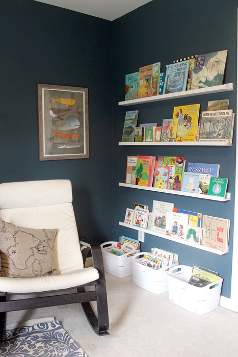 reading corner in nursery