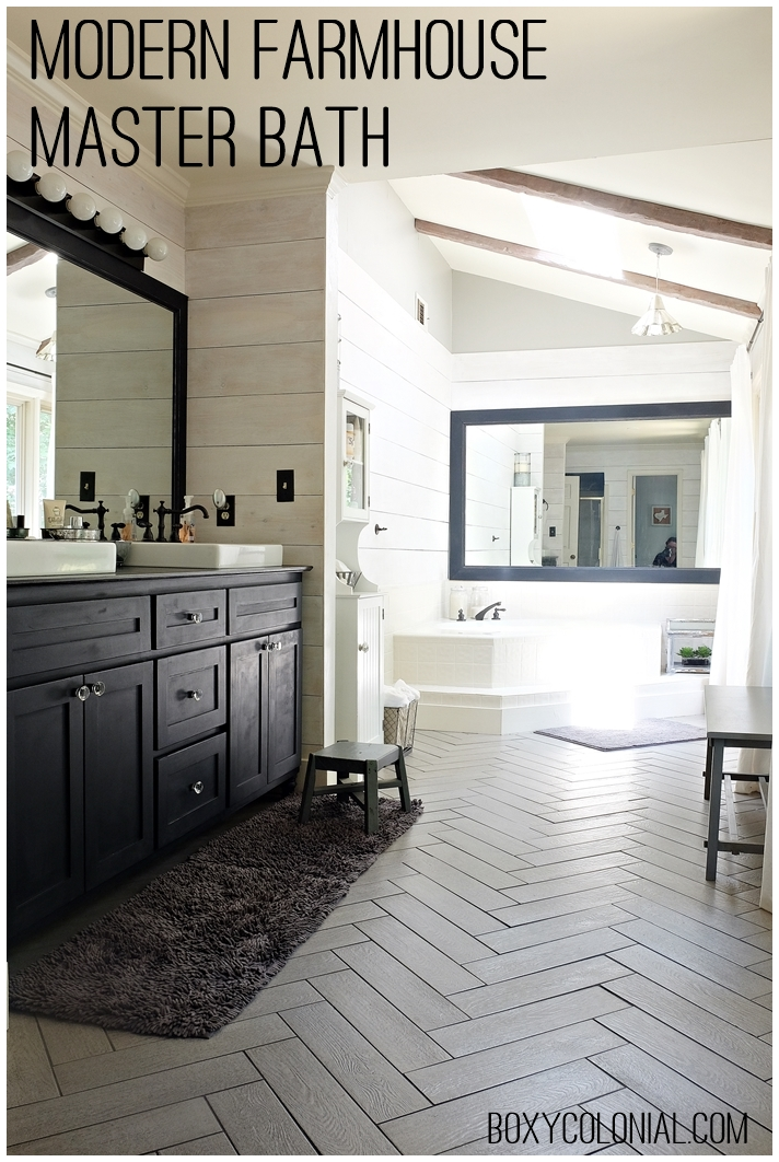 Kristi S Modern Farmhouse Rustic Glam Master Bathroom