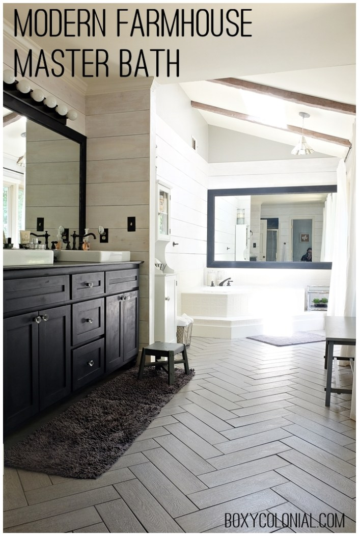 Kristi's Modern Farmhouse/ Rustic Glam Master Bathroom ... on Modern Farmhouse Shower  id=83439