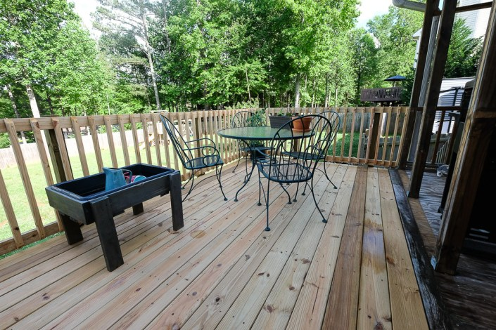 newly repaired deck