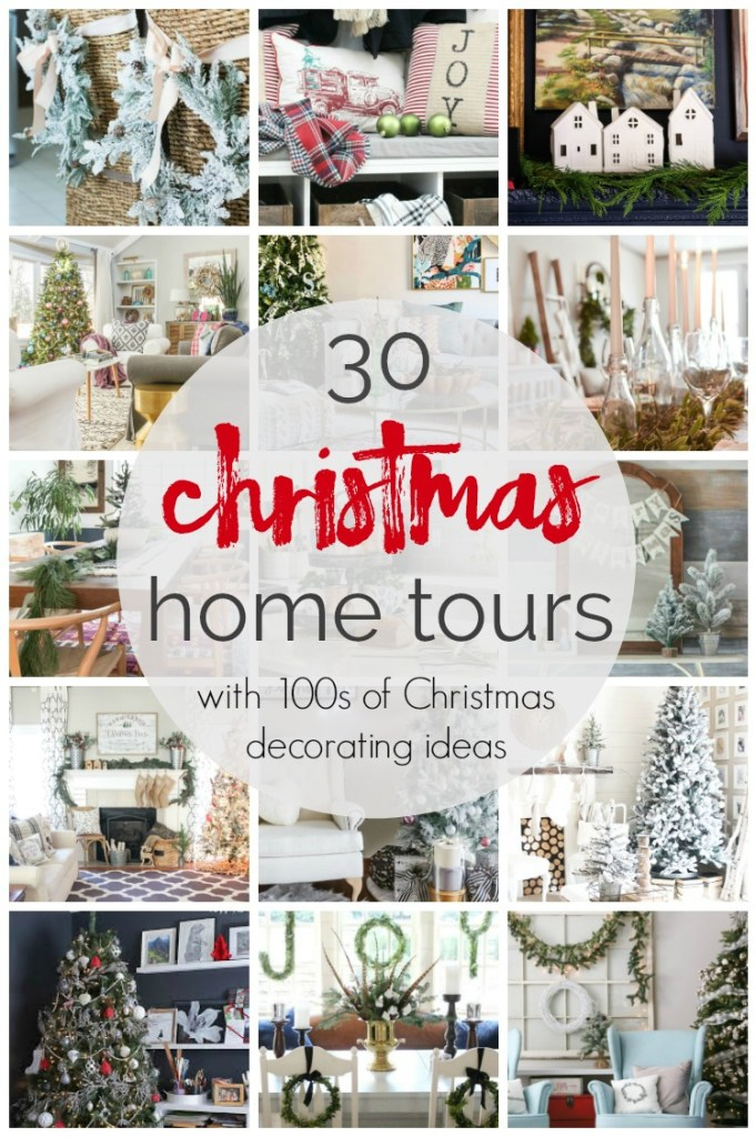 30 Christmas home tours with 100s of Christmas decorating ideas