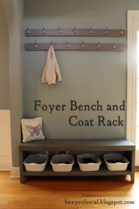 The Coat Rack And Shoe Bench: Nine Months Later