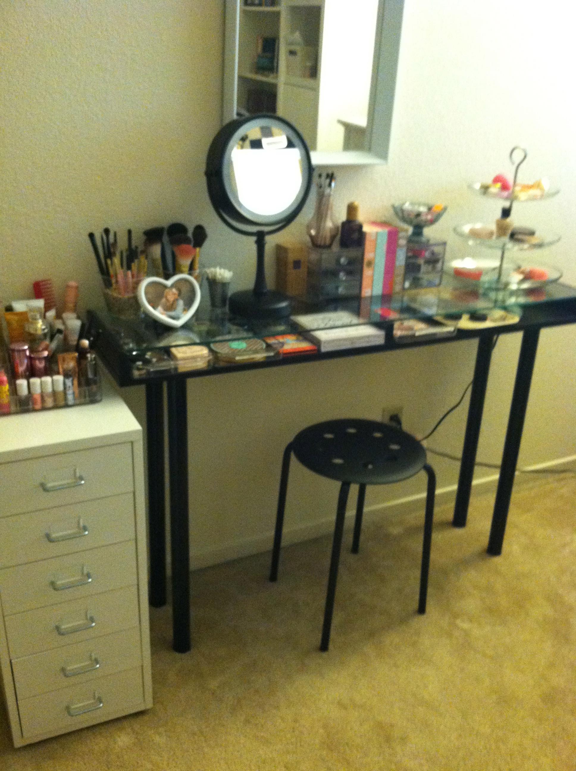 Makeup Storage Ikea DIY Vanity  Boxy Foxy Beauty