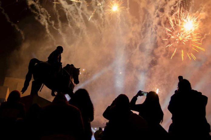 Fuegos Pirotécnicos en Tunja Concierto Bicentenario