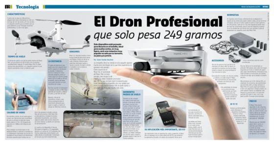 El dron profesional que solo pesa 249 gramos.