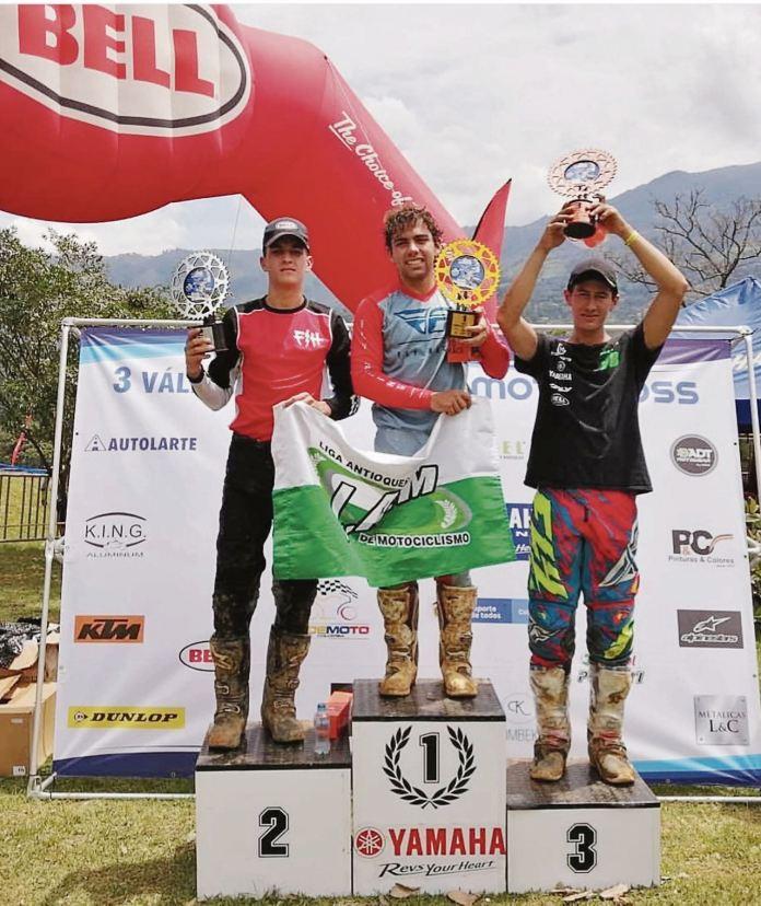 Germán David Borda Peralta ocupó el tercer lugar en la tercera válida del Campeonato Nacional de Motocross celebrado en Antioquia.