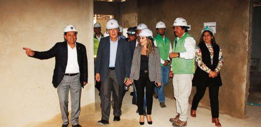 El Ministerio de Salud felilcitó a la administración municipal por la forma como se desarrolla obra.