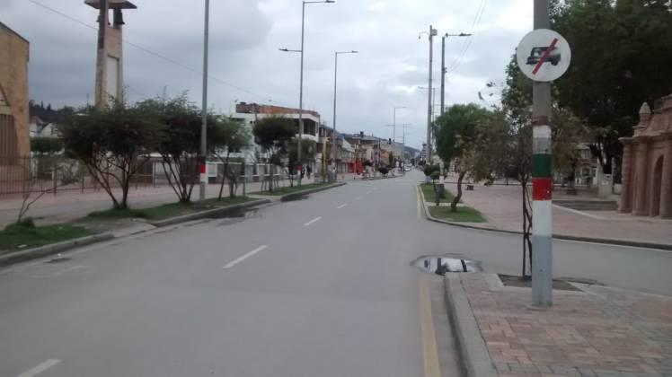 [Galería] Las calles de Boyacá permanecen solas en el primer día de Simulacro de Aislamiento por COVID - 19 4