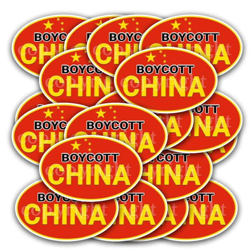 Boycott China Stickers 20 Decals