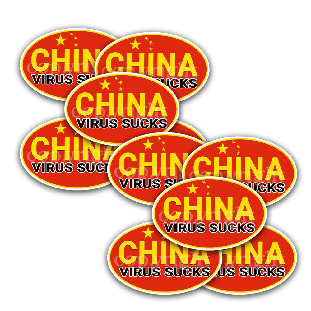 China Virus Sucks Stickers 10 Decals