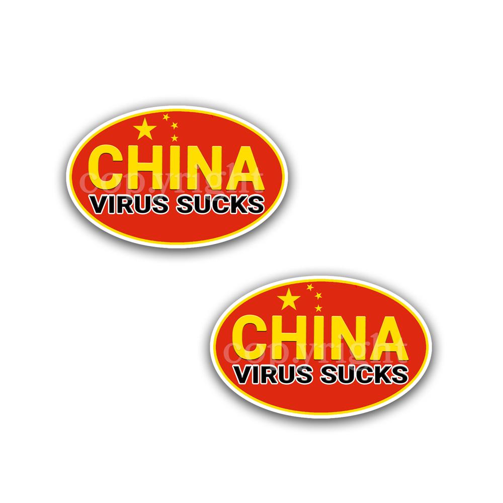 China Virus Sucks Stickers 2 Decals