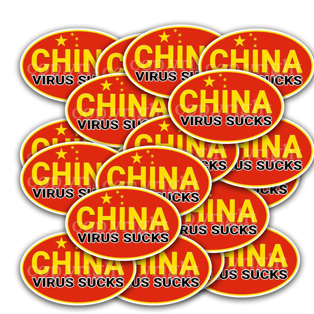 China Virus Sucks Stickers 20 Decals