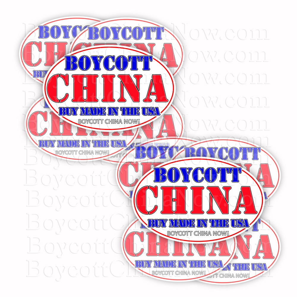 Boycott China Buy Made In The USA Stickers 10