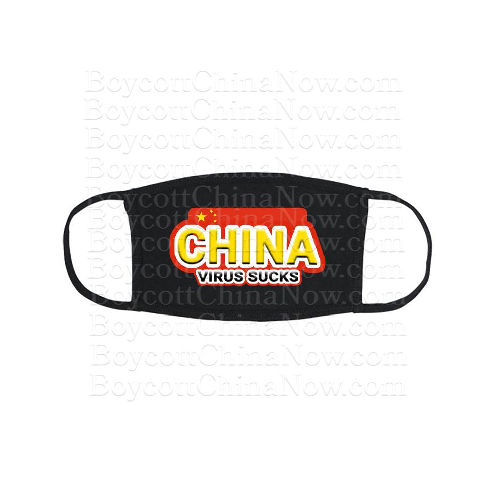 China Virus Sucks Face Mask Bk