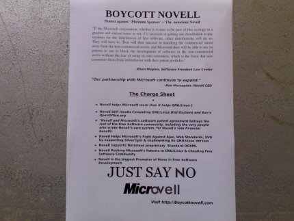 Novell, Free Software, Free Speech and Conference