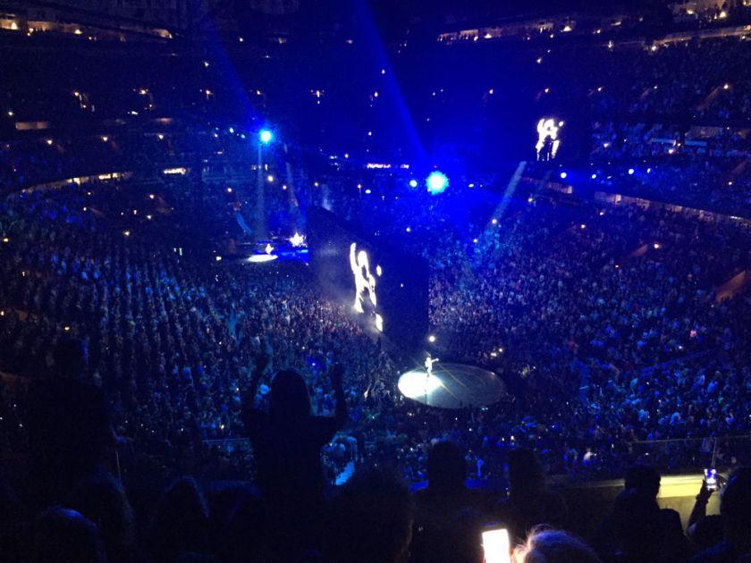 U2 in concert.