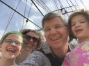 Our family on the Cutty Sark.
