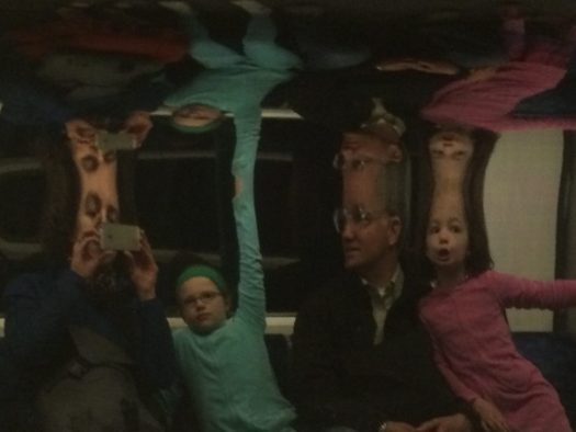 Weird reflections in the tube.