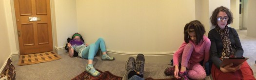 Waiting in the hallway: a panorama